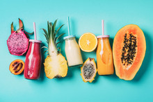 Assortment Of Colorful Smoothi...
