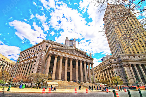 Obraz na plátně Thurgood Marshall United States Courthhouse and New York Supreme Court