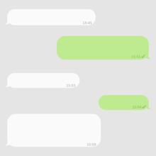 Social Network Chatting Window. Blank Template. Messenger Window.