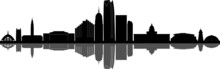 OKLAHOMA City Skyline Silhouet...