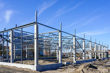 The Steel Frame Of A Building ...