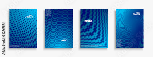 Collection of blue digital contemporary covers, templates, posters, placards, brochures, banners, flyers and etc Slika na platnu