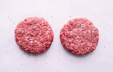 Raw Beef Cutlets For Burgers W...