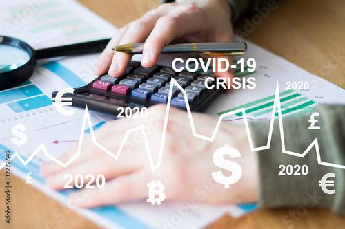 Fotografía Сovid-19 crisis of the economic system due to the coronavirus epidemic