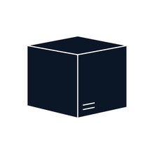 Isolated Delivery Box Silhouet...