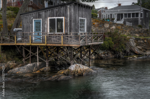 Fotografie, Tablou Fishing Shack on Shoreline