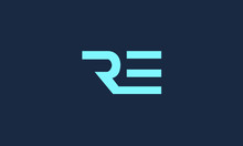 RE ER R E Letter Logo Alphabet...