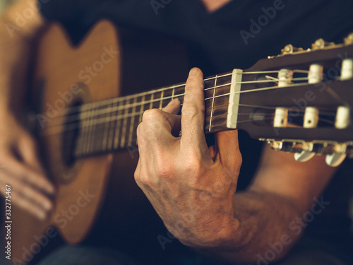 Le guitariste Fototapet