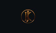 JK KJ K J Letter Logo Alphabet...