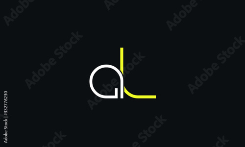 Photo AL LA A L Letter Logo Alphabet Design Template Vector