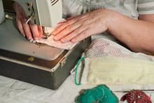 Elderly Senior Woman Working O...