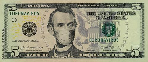 Cuadros en Lienzo COVID-19 coronavirus in America