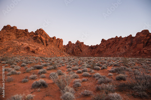 view of red rock formations