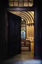 Entrance Wooden Door To The Ca...