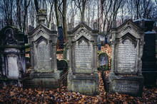 Old Graves On Jewish Cemetery ...