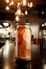 Glass Jar With Dried Citruses ...