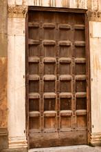 Very Large Heavy Wooden Door