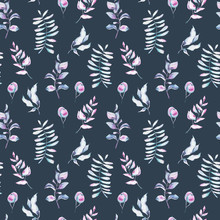 Seamless Pattern With  Hand Pa...