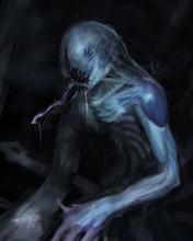 Painting Of Monstrous Alien Cr...