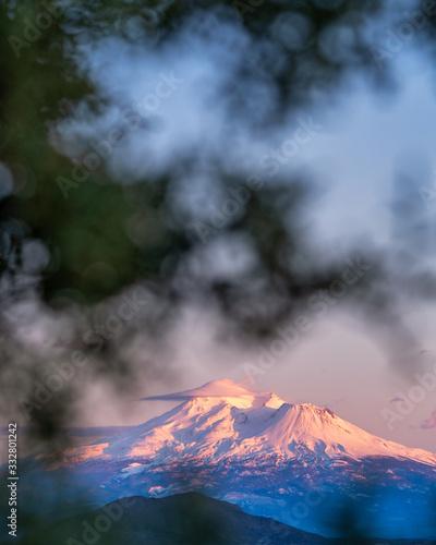 Sunset on Mount Shasta, California Wallpaper Mural