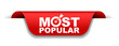 red vector illustration banner most popular