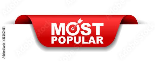 red vector illustration banner most popular Fototapeta