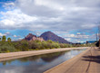 canvas print picture - The Grand Canal, Phoenix, Scottsdale, Az,USA.  The oldest remaining pioneer canal on the north side of the Salt River, runs 21 miles from 75th Ave and Camelback Road all the way to Papago Park.