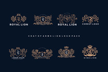 Coat Of Arms Griffin Logo Pack