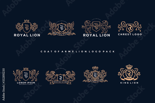 coat of arms griffin logo pack Canvas Print