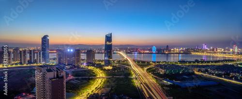 Photo singapore skyline at night
