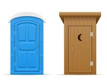 Bio And Wooden Outdoor Toilet ...