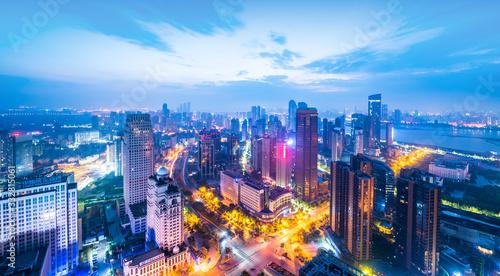 hong kong city at night Canvas Print