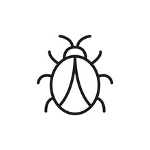 Simple Bug Line Icon.