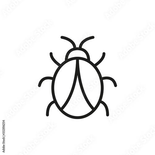 Tela Simple bug line icon.