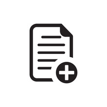 New Document Icon , Add Paper Icon