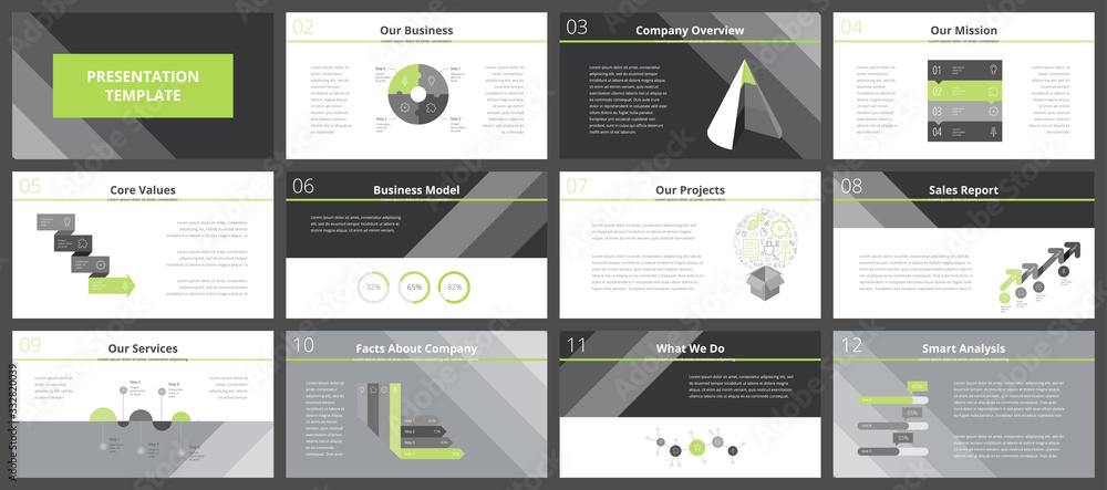 Fototapeta Business presentation templates