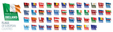 Set Of Flags Of Europe. Vector...