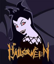 Cartoon Halloween Illustration...