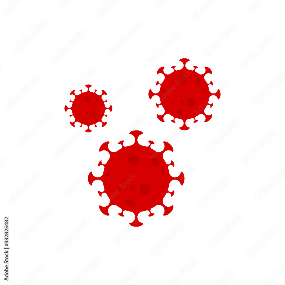 Fototapeta novel coronavirus. covid-19 dangeriuos vector illustration
