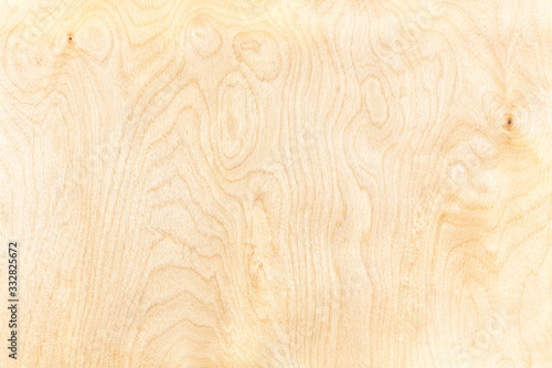 Fototapeta high-detailed birch plywood textured background with natural pattern