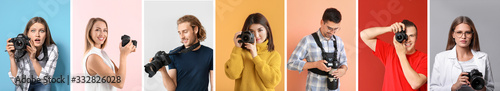 Photo Collage of photos with different young photographers