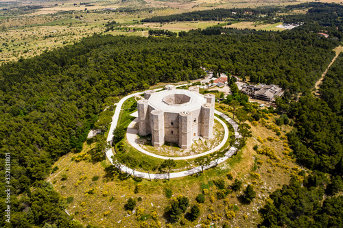 Photo Aerial view Castel del Monte, UNESCO World Heritage Site, Province of Barletta A