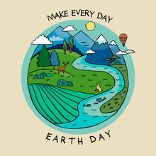 Happy Earth Day Banner To Cele...