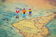 Miniature People: Group Of Bac...