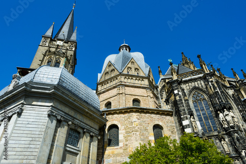 Cathedral of Aachen in Germany Wallpaper Mural