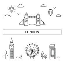 Illustration Of London City At...