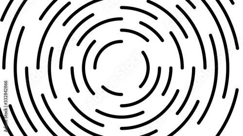Tapety Geometryczne  okragla-czarna-linia-wirowa-pekla-na-bialym-tle-wirowa-okragla-linia-artystyczna-spiralny-ksztalt-cykl