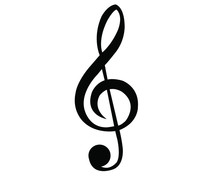 Musical Clef Icon In Isolate O...