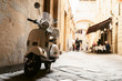 Leinwandbild Motiv One of the most popular transport in Italy, vintage Vespa