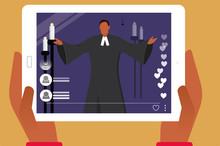 Illustration, Online Church, B...